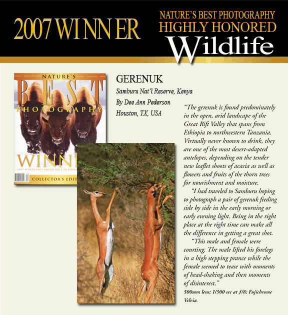 2007 Winner Smithsonian Wildlife